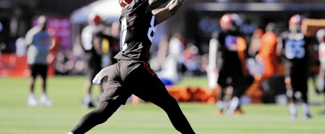 Terrelle Pryor Gets a Workout with the New England Patriots