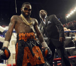 CINCINNATI, OHIO - OCTOBER 03: Adrien Broner leaves the ring after beating Khabib Allakhverdiev at U.S. Bank Arena on October 4, 2015 in Cincinnati, Ohio. (Photo by Dylan Buell/Getty Images)