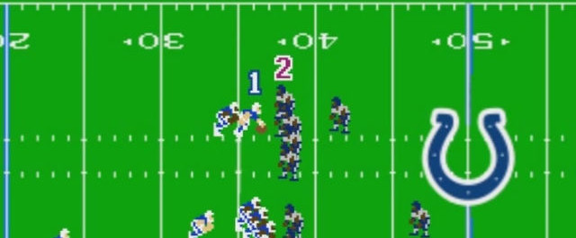 Watch: Colts fake punt on Super Tecmo Bowl