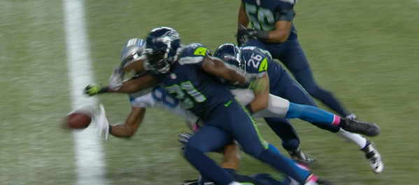Watch: Kam Chancellor seals Seahawks win with strip of Calvin Johnson
