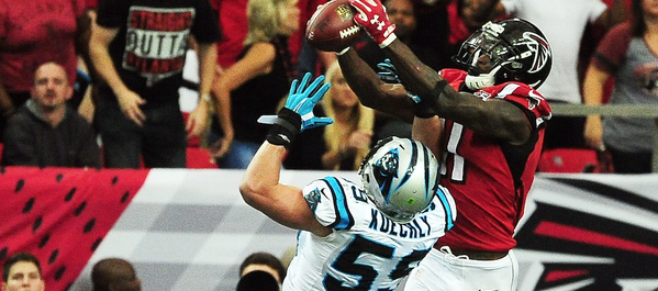 Watch: Julio Jones moss Luke Kuechly for a 70 yard touchdown