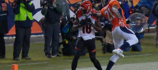 Watch: A.J. Green show off nice footwork for TD against Aqib Talib