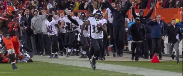 Watch: The Browns brown on Monday Night Football