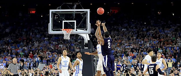 Slow Motion Video: Nova's Kris Jenkins nails game winner in National Championship Game