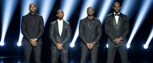 Watch: Carmelo Anthony, Chris Paul, Dwyane Wade, and LeBron James Sends A Powerful Statement at the ESPY's