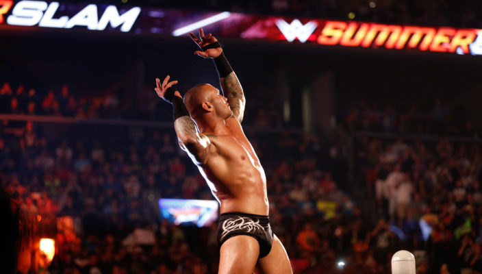 NEW YORK, NY - AUGUST 23:  Randy Orton enters the ring at the WWE SummerSlam 2015  at Barclays Center of Brooklyn on August 23, 2015 in New York City.  (Photo by JP Yim/Getty Images)
