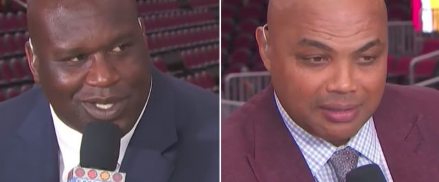 Shaq and Charles Barkley get into a verbal tussle live on TNT after Cavs/Celtics Game 4